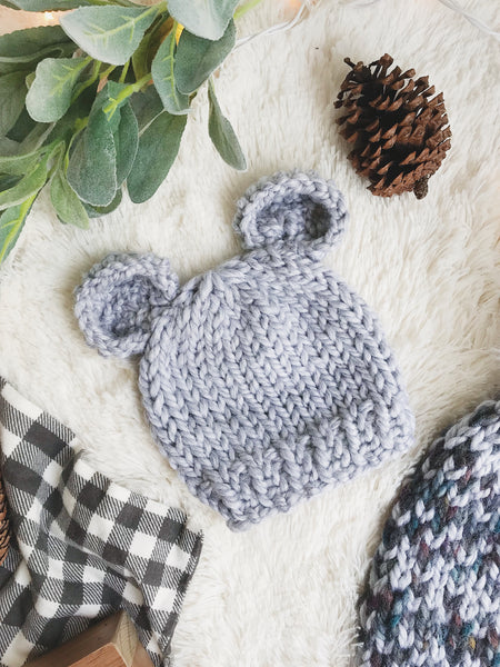Baby Bear Knitted Beanie Hat Bear Ears