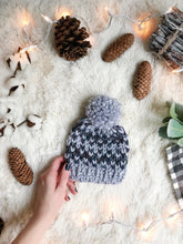 Baby Knitted Fair Isle Beanie with YARN Pom Pom // The Lil Hallowell