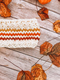 Knitting Pattern Adult Knit Striped Headband // Retro Rainbow Stripes