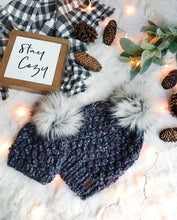 Mommy and Me SET Knitted Textured Beanie with Faux Fur Pom Pom // The Westbrook