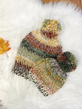 Mommy and Me Hats Knit Baby and Adult Beanie Handmade YARN Pom Pom // Coney Island