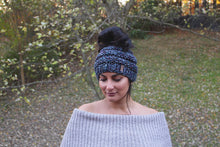 Messy Bun Hat Knitted Adult Hat