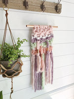 Pastel Unicorn Knit Wall Hanging with Copper Detail