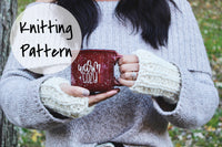 Knitting Pattern Fingerless Gloves Ribbed Adult Mitts
