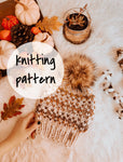 Knitting Pattern Adult Fair Isle Knit Hat Beanie // The Hallowell Hat