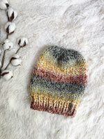 Knitted Beanie Adult Slouchy Hat // The Kennebec