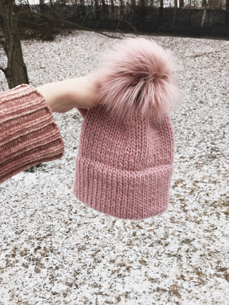 ... Knitting Pattern Adult Knitted Hat Double Brim Beanie    The Caribou ... d4654122bcf