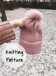Knitting Pattern Adult Knitted Hat Double Brim Beanie // The Caribou