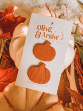 PUMPKIN STUDS // Pumpkin Spice Clay Earrings