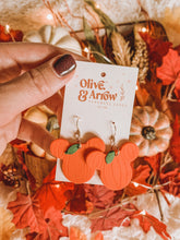 MICKEY PUMPKIN HEADS // Dangle Clay Earrings