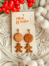 Gingerbread Rose Gold Dangles