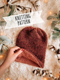 Knitting Pattern Adult Double Layer Reversible Beanie // The Tawny