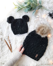 Adult Knitted Textured Beanie with Faux Fur Pom Pom // The Westbrook