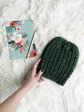 Easy Beginner Knitting Pattern Adult Knit Hat Beanie Ribbed // The Rockland