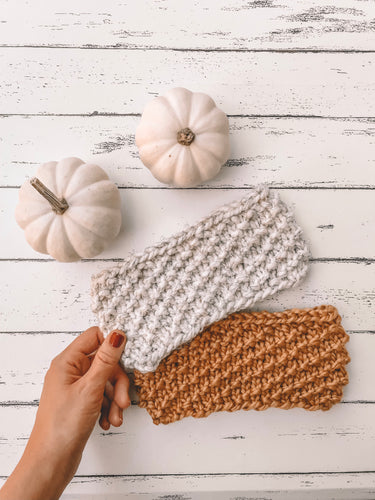 Adult Textured Knit Headband