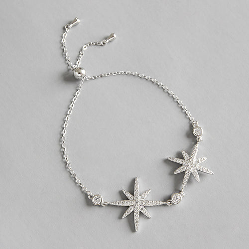 HONEYBURGH Sterling Silver Star Bracelet