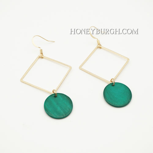 Summer Green Earrings