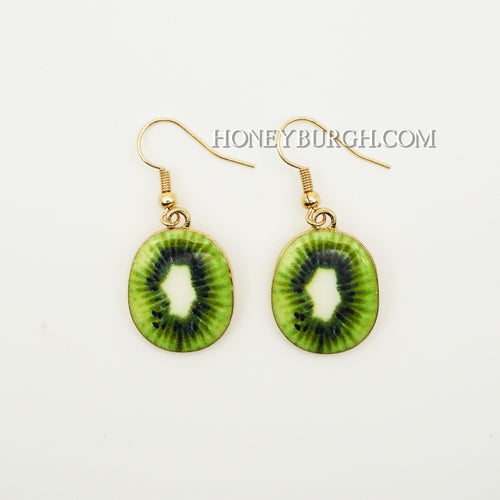 Summer Fruit Earrings Mini Kiwi Fruit