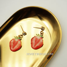 Summer Fruit Earrings Mini Strawberry