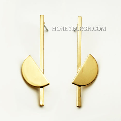 Shape Earrings (14k gold plated)