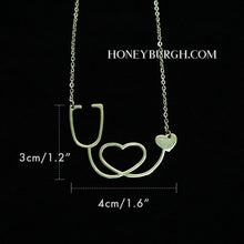 Stainless Steel Stethoscope Heart Necklace