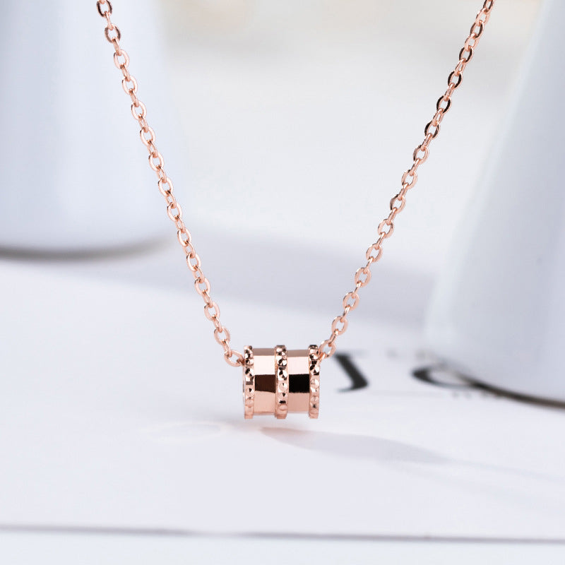HONEYBURGH Sterling Silver Necklace (Rose Gold Plated)