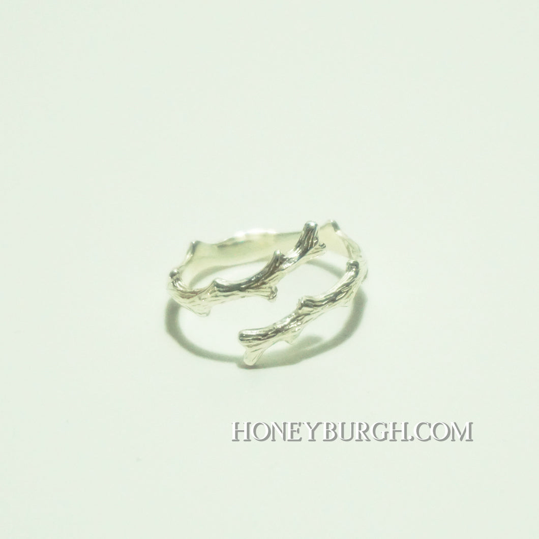 Sterling Silver Tree Branch Open Ring