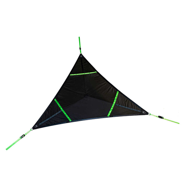 Levitat Aerial Mat (Black with Neon Green straps)| Vivere, Hammock & Tree Tents, Vivere - Best Tents Store