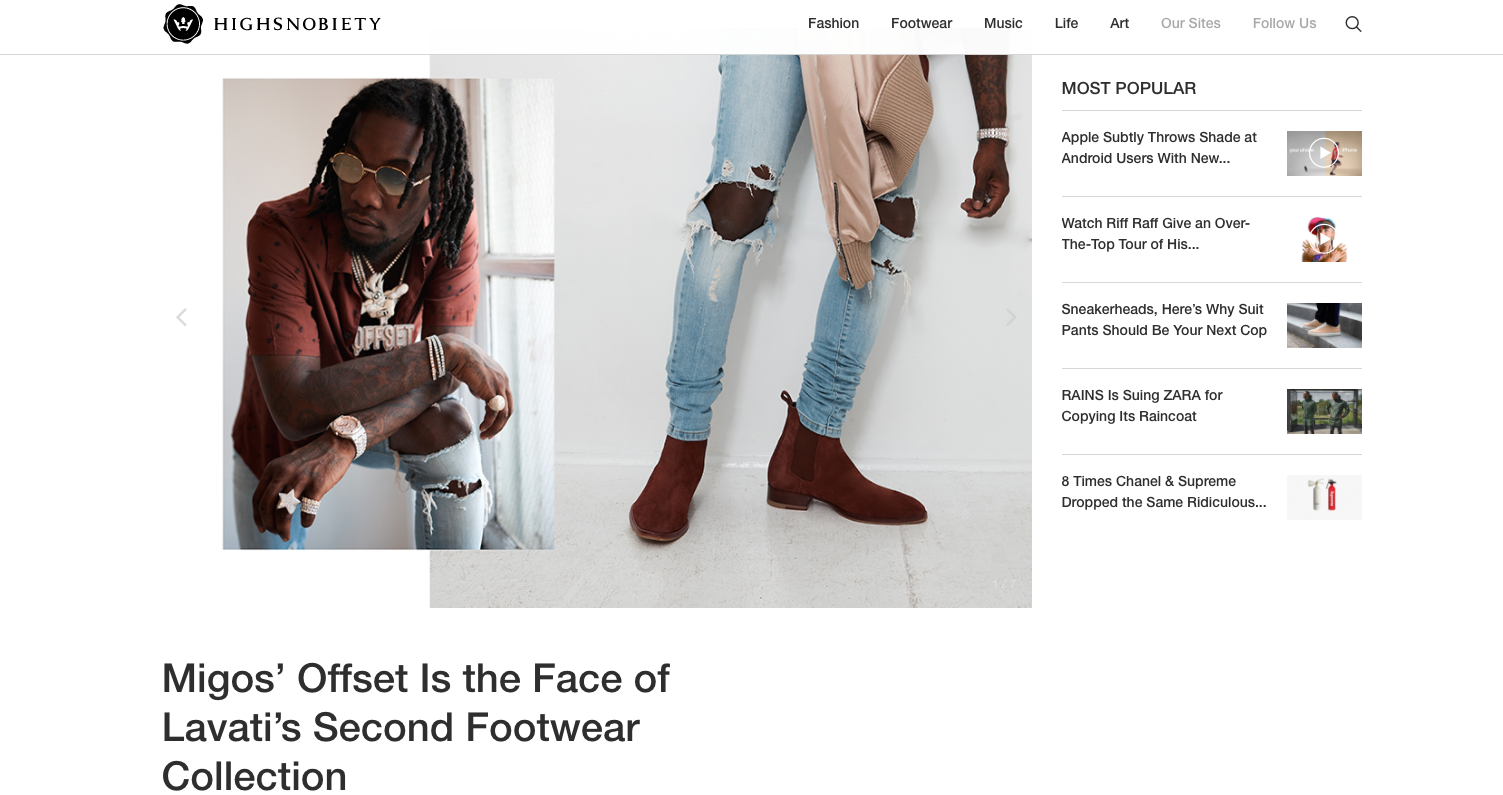 Highsnobiety ft. LAVATI X OFFSET