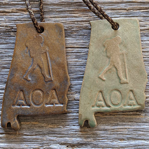 Alabama Outdoor Adventurer Christmas Tree Ornament - Hiker