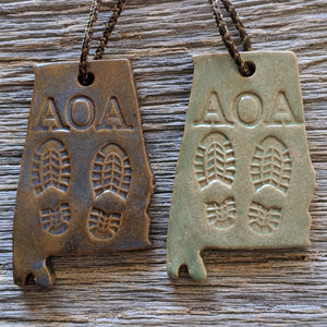 Alabama Outdoor Adventurer Christmas Tree Ornament - Boots