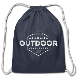 Alabama Outdoor Adventurer Drawstring Bag - navy