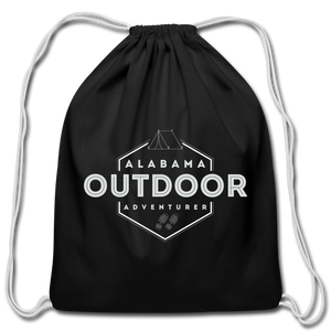 Alabama Outdoor Adventurer Drawstring Bag - black