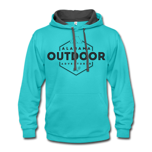 Alabama Outdoor Adventurer Contrast Hoodie - scuba blue/asphalt