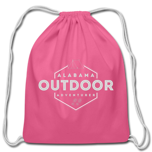 Alabama Outdoor Adventurer Drawstring Bag - pink