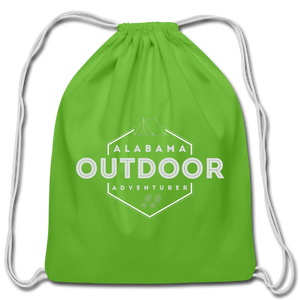 Alabama Outdoor Adventurer Drawstring Bag - clover