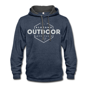 Alabama Outdoor Adventurer Contrast Hoodie - indigo heather/asphalt