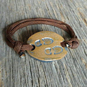 Outdoor Adventure Boot Prints adjustable Bracelet