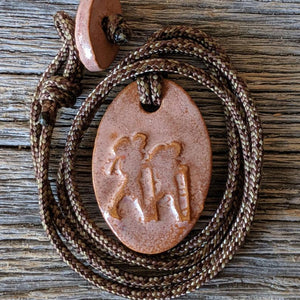 Outdoor Adventure Backerpacking Couple Necklace