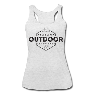 Alabama Outdor Adventurer Women's Tri-Blend Racerback Tank - heather white