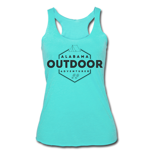 Alabama Outdor Adventurer Women's Tri-Blend Racerback Tank - turquoise