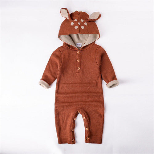 Knitted Deer Romper