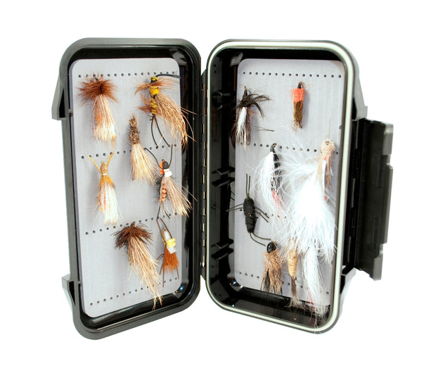 Popular Salmon Fly Box - by Kingfisher - Holds Large Streamers and Flies