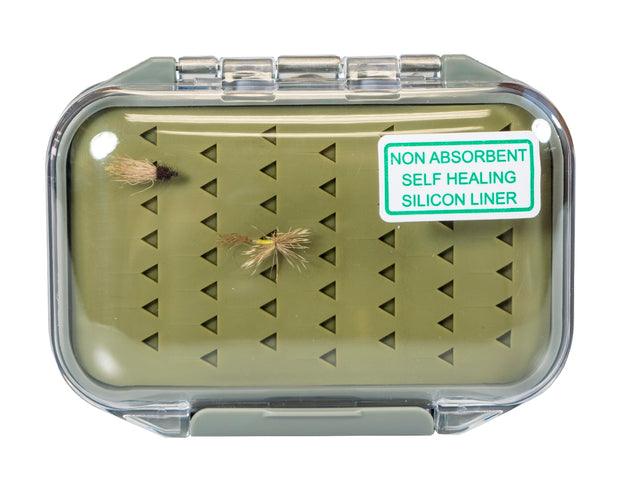 Kingfisher Midge Water-Resistant Silicone Fly Box with FREE Black Stainless Steel Zinger Included