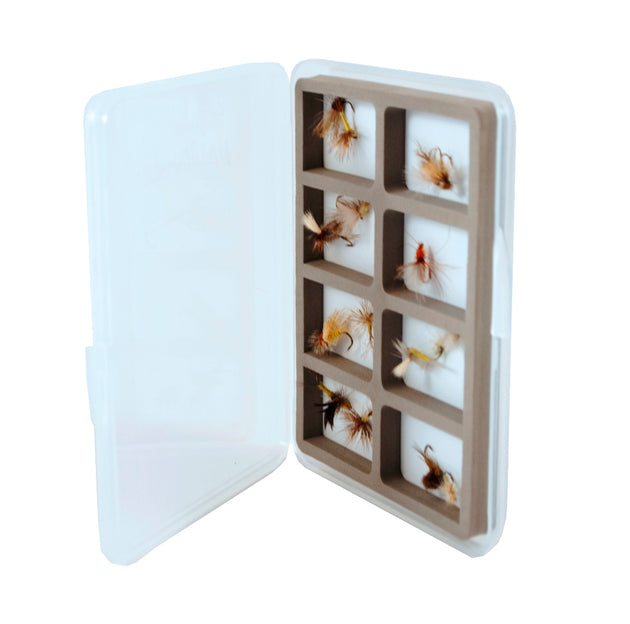 Ultra Slim-Short 8 Compartment Magnetic Back Fly Box