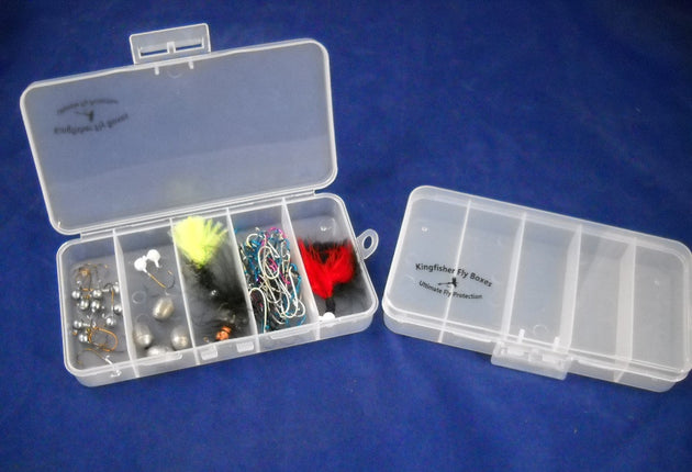 Set of 2 - Streamer / Saltwater Fly Box w/ 5 Compartments