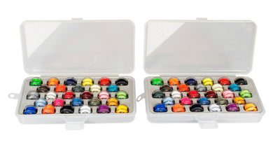 Set of 2 - Bobbin Boxes w/ 28 Assorted Color Prewound Bobbins Each