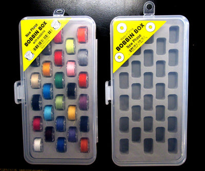 Set of 2 - Bobbin Box Organizers includes 28 Prewound Bobbins