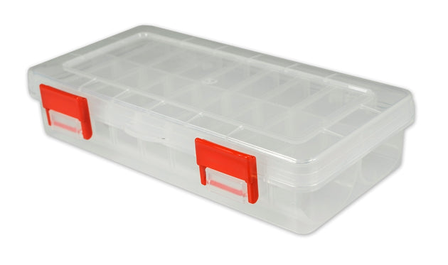 "7"" Poly Box w/Adjustable Compartments and Rounded Bottoms Poly Box - 48 Bulk Count"