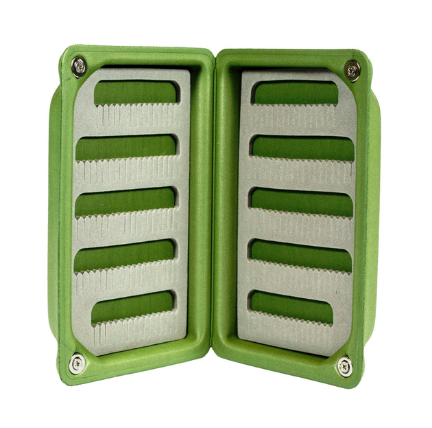 Light Weight Floating Olive Green EVA Fly Box- Small Vest Size